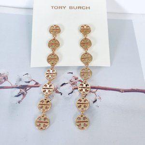 Tory Burch Gold Luxury Cutout Earrings